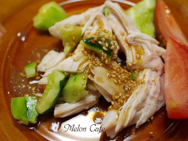レンジでつくるきゅうりとみそだれの簡単蒸し鶏臨時こども料理教室