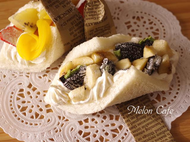 抹茶のオレオで簡単和の甘味サンドしないサンドシナイッチ01