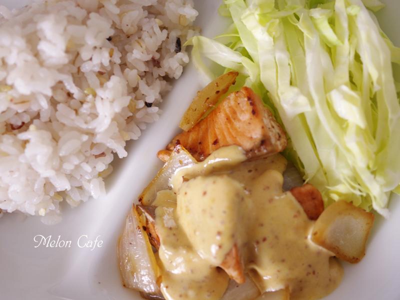 鮭の味噌マヨマスタードソース00