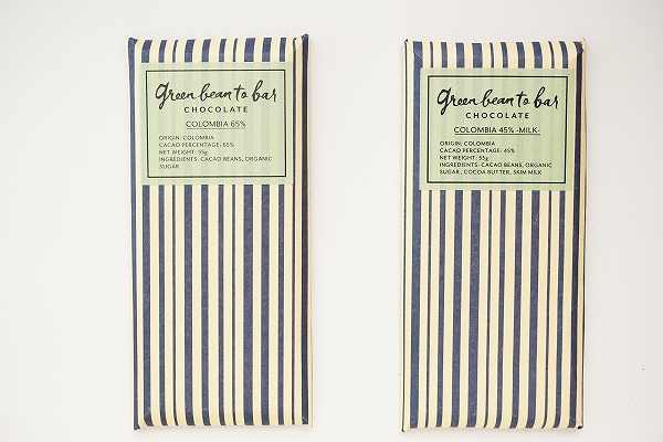 【green bean to bar chocolate】COLOMBIA 65% / COLOMBIA 45% -MILK-