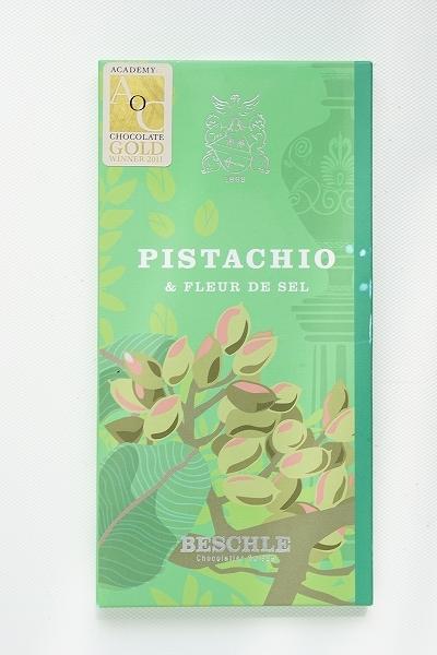 【BESCHLE】Dark Chocolate Trinitario Madagascar 64% with Pistachios & Fleur de Sel