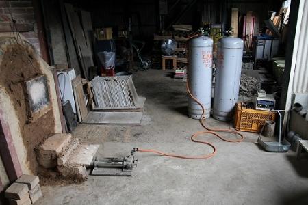 鳴瀧窯本日から窯焚き