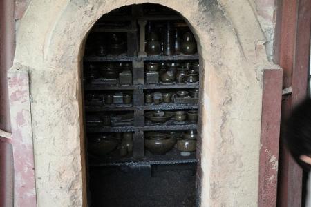 火前(ひまえ)の窯内部