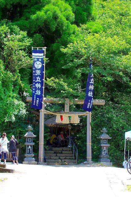 荒立神社夏の大祭神楽(神降ろし)