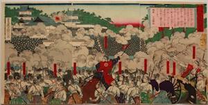 西南戦争の熊本城