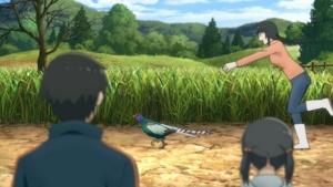雉を追っかける真琴