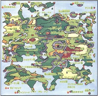 貝獣物語ワールドマップ