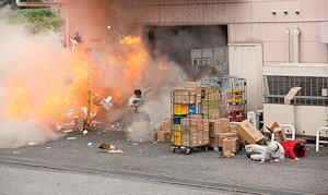 企業への爆破テロ