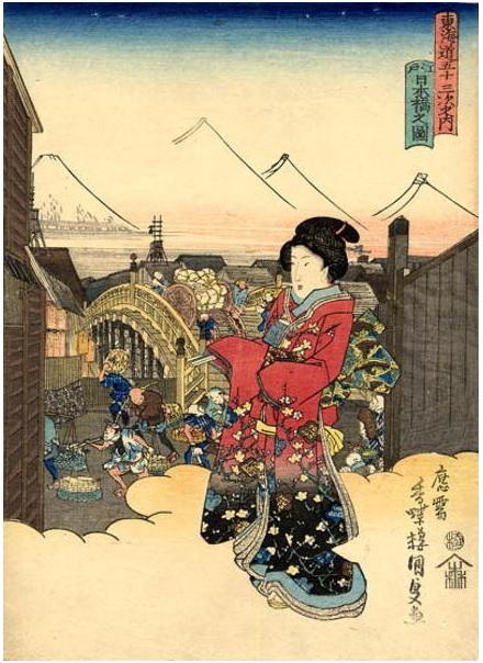 歌川国貞 『江戸日本橋』