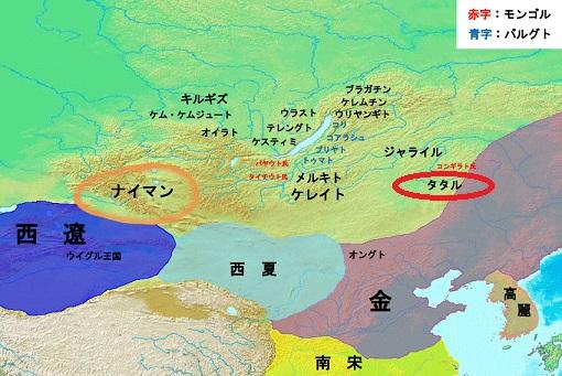 13世紀の東アジア諸国と北方諸民族