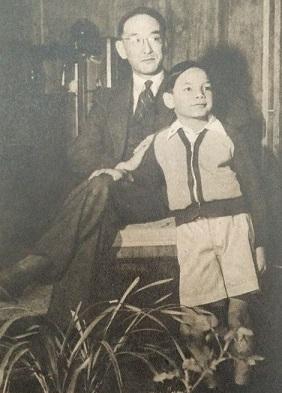 渡辺慧 息子とともに(1949年)