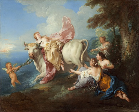 Europa and the bull depicted by Jean-François de Troy (1716)