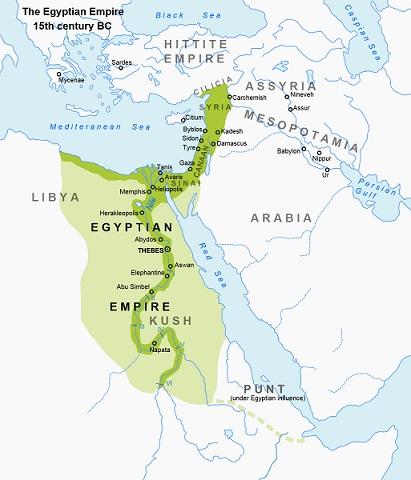 紀元前15世紀における古代エジプトの最大版図