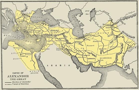 マケドニア王国(アレクサンドロス3世時代)の最大版図