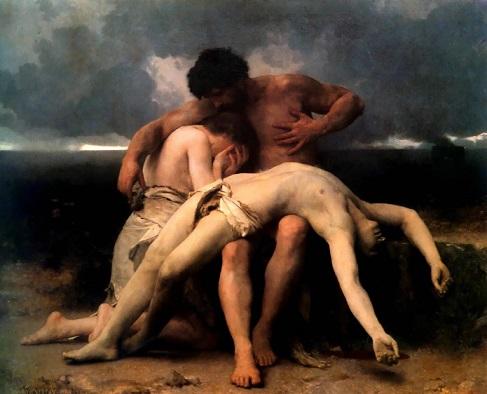 アベルの死を嘆くアダムとイヴ(ウィリアム・アドルフ・ブグロー画)