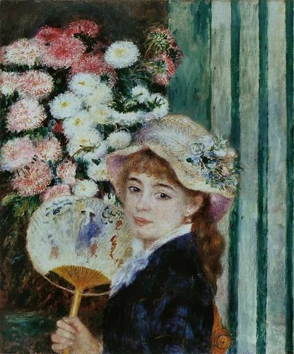 ルノワール『うちわを持つ少女』 1881年