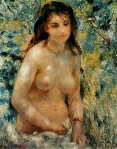ルノワール『陽光を浴びる裸婦』 1875年