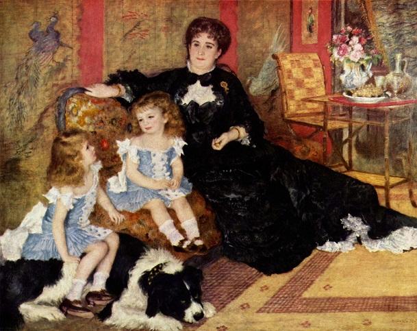 ルノワール『シャルパンティエ夫人と子どもたち』 1878年
