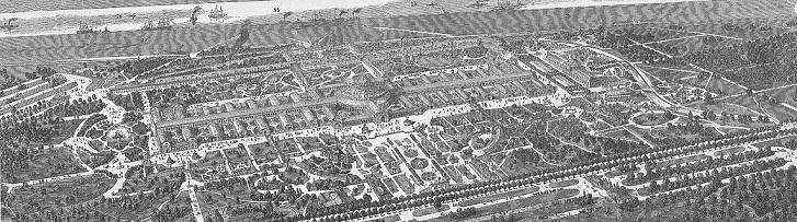ウィーン万国博覧会(1873年)会場俯瞰図
