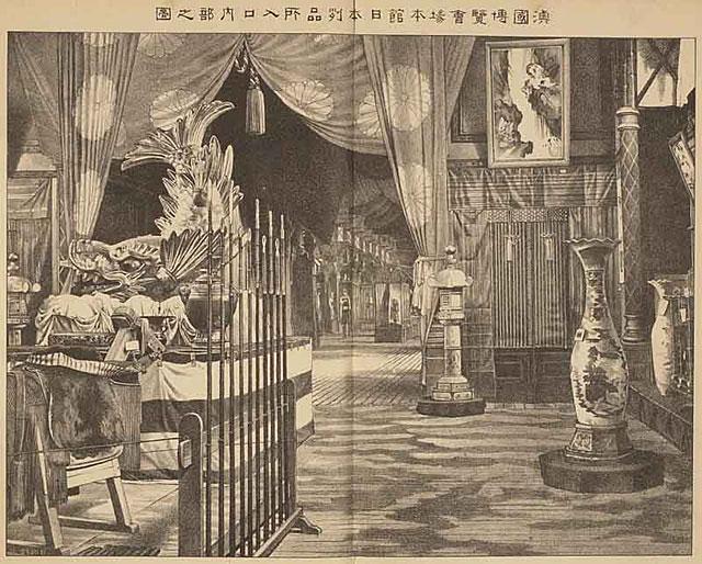 日本館。当時欧州は、ジャポニスムの最中であった