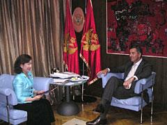 ジュカノビッチ首相との会談