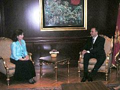 ブヤノビッチ大統領との会談