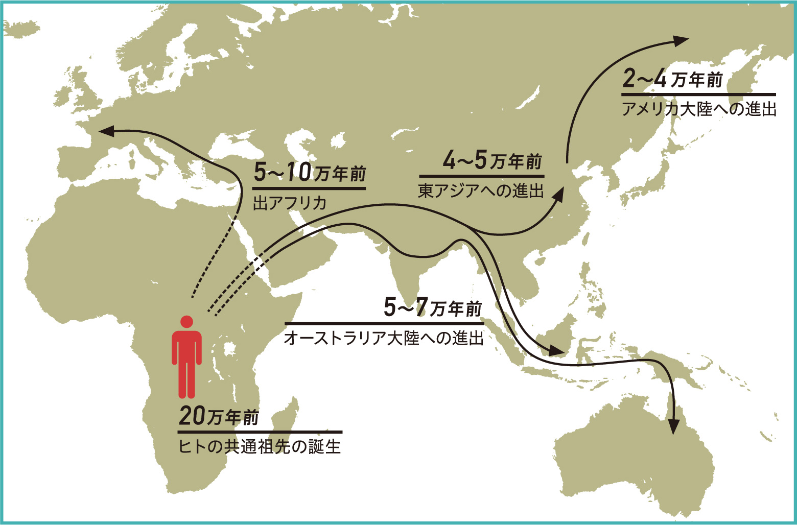 アフリカから世界へ ヒトの拡散