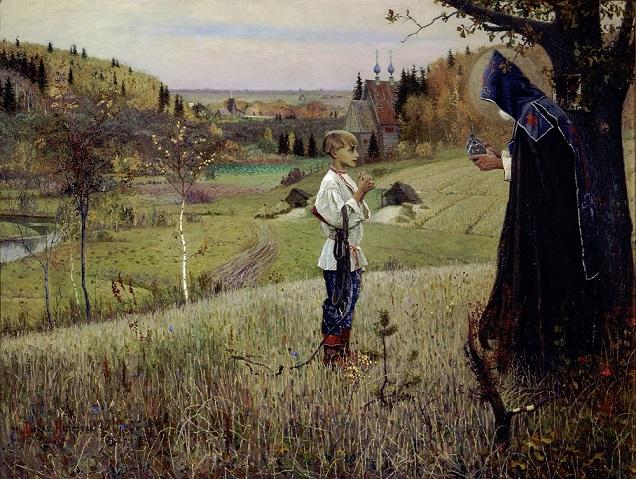 ミハイル・ネステロフ 『若きヴァルフォロメイの聖なる光景』(1890年)