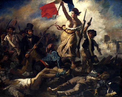 『民衆を導く自由の女神』(ウジェーヌ・ドラクロア画)