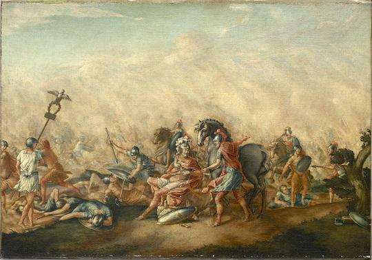 『執政官パウルスの最期』(John Trumbull, 1773年)