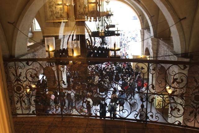 ミラコスタから入場を眺める