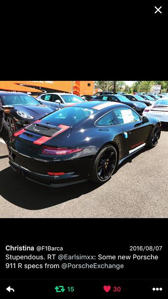 Porscheポルシェ911R(Type991)