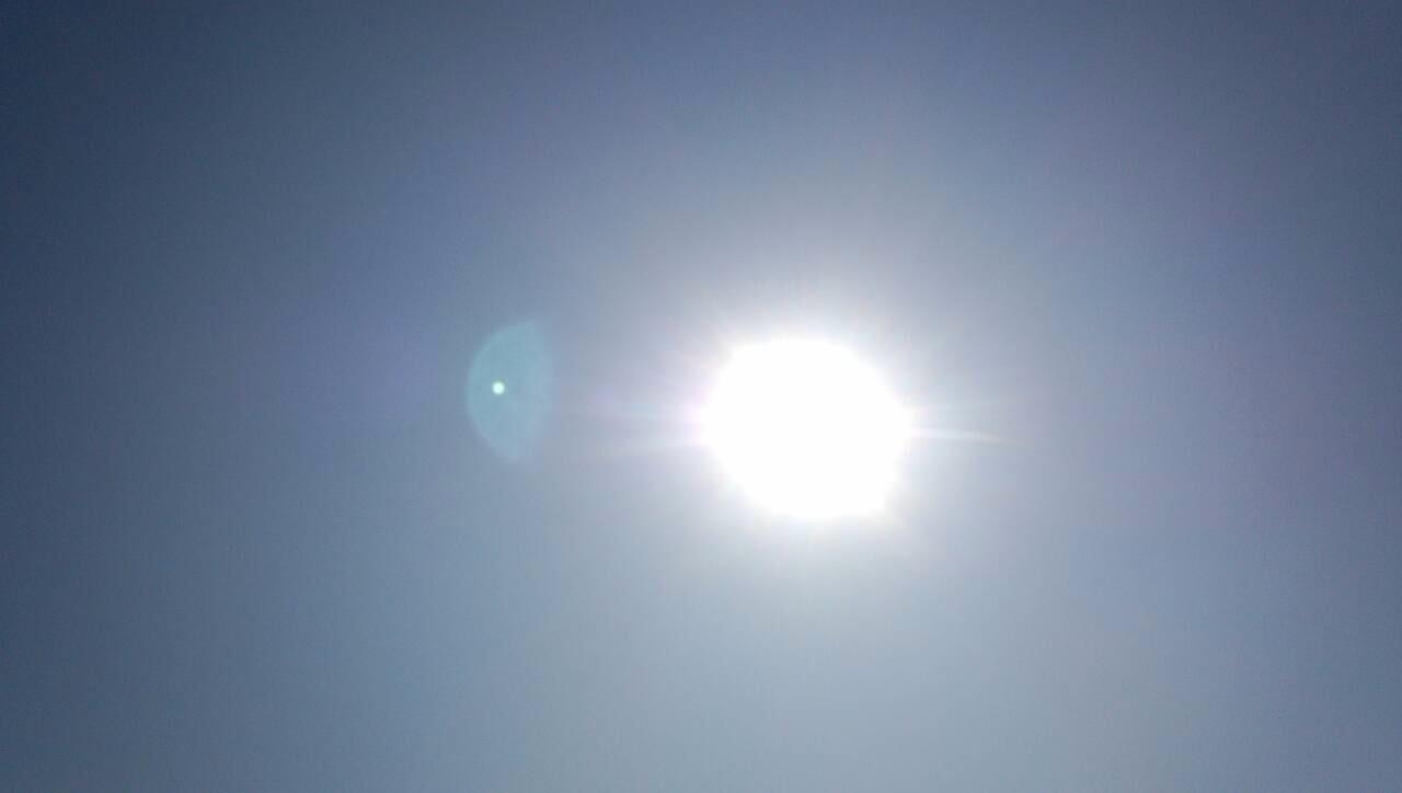 半月と太陽