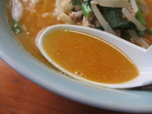 日の出食堂 唐揚担々麺 スープ