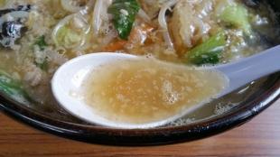 関屋福来亭 味噌ラーメン スープ