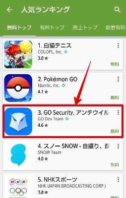これはヤバイ! 偽セキュリティアプリ「Go Security」が公式の人気ランキング上位に君臨