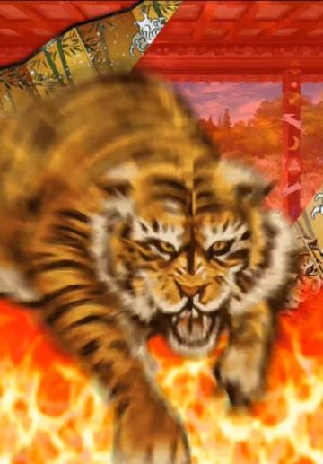 虎が向かってくる