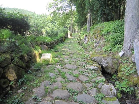 白山平泉寺 中世石畳跡