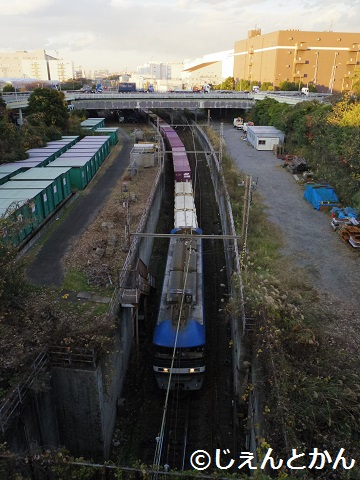 東海道貨物線/東京貨物ターミナル~川崎貨物(東京港野鳥公園) - 鉄道 ...