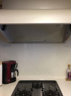 朝から換気扇の大掃除