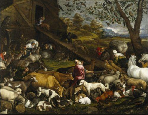 ヤコポ・バッサーノ - ノアの方舟に乗り込む動物たち